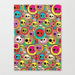 Button Skulls Canvas Print