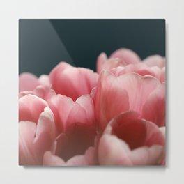 Tulips On Blue Metal Print