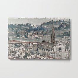 Aerial View Historic Center of Florence, Italy Metal Print
