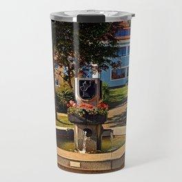 The village fountain of Eidenberg Travel Mug
