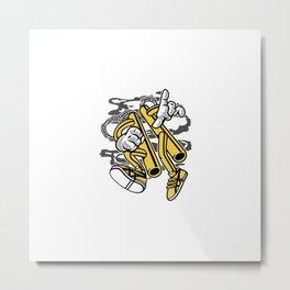Double Stick Man Metal Print