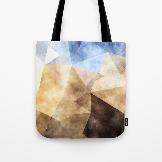 On the fields- Abstract watercolor triangle pattern Tote Bag