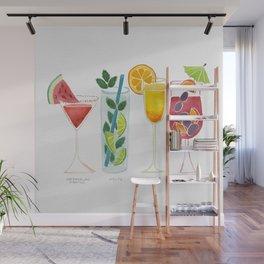 Summer Cocktail Trio Wall Mural
