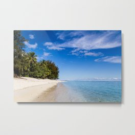 Beach Day- Cook Islands Metal Print
