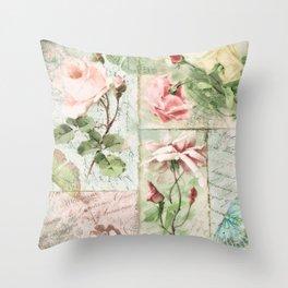 Belles Fleurs I Throw Pillow
