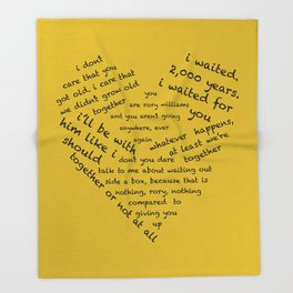 Quotes of the Heart - Amy/Rory (Black) Throw Blanket