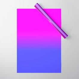 Neon Blue and Hot Pink Ombré Shade Color Fade Wrapping Paper