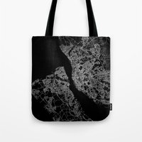 liverpool Tote Bags featuring Liverpool by Line Line Lines