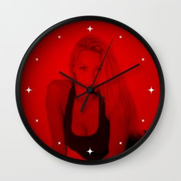 Pamela Anderson - Celebrity (Photographic Art) Wall Clock