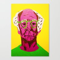 larry david Canvas Prints featuring Larry David 3 by Alyssa Underwood Contemporary Art