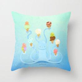Ice Cream Power Throw Pillow