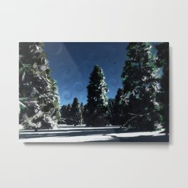 Cold andCrisp Metal Print