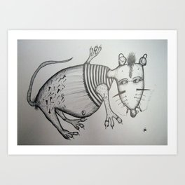TOPO 4 Art Print
