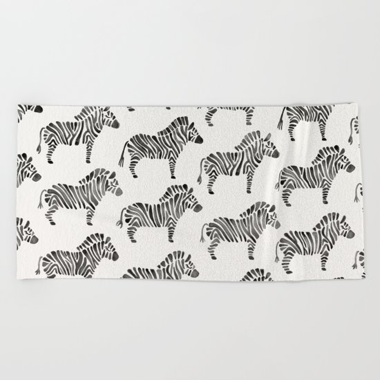 Zebras – Black & White Palette Beach Towel