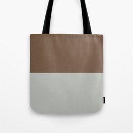 Benjamin Moore 2019 Color of Year Metropolitan AF-690 & Kona Chocolate Brown Bold Horizontal Stripes Tote Bag