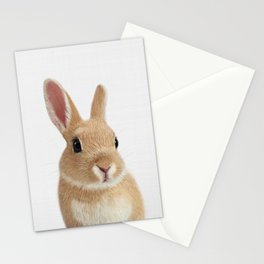 Bunny rabbit print Stationery Cards