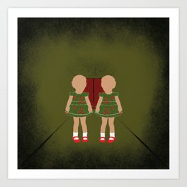 Twin Kids Art Print