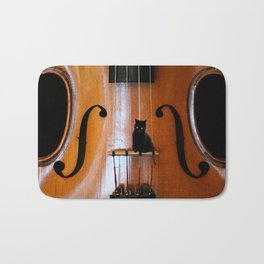 Black Cat And Violin #decor #society6 Bath Mat