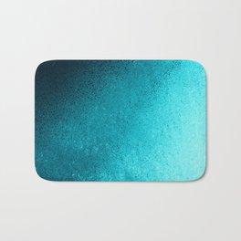 Modern abstract navy blue teal gradient Bath Mat