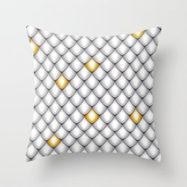 Fish Scale Pattern Design Throw Pillow