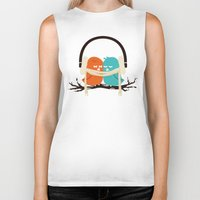 birds Biker Tanks featuring Baby It's Cold Outside by Picomodi