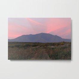 Pink Sky Mountain Metal Print