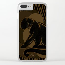 The Roaring Black Panther by IxCO Clear iPhone Case