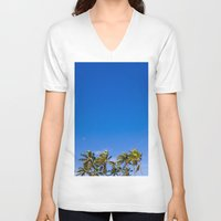 palm trees V-neck T-shirts featuring Palm Trees by JacPfef