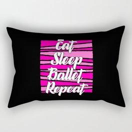 at sleep ballet repeat Rectangular Pillow