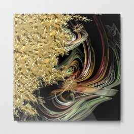 Golden Abstractions Metal Print