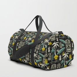 Island Tiki - Black Duffle Bag