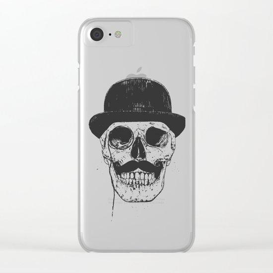 Gentlemen never die Clear iPhone Case