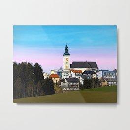 Village skyline with vivid sky | landscape photography Metal Print
