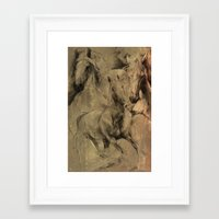 horses Framed Art Prints featuring Horses by MikakoskArts