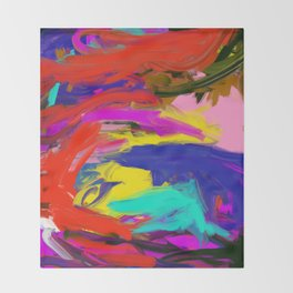 Rainbow Abstract II Throw Blanket