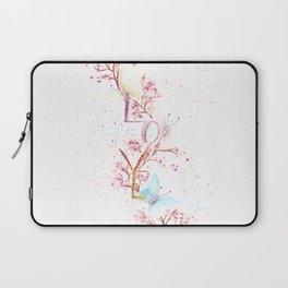 Love Butterflies Watercolor Illustration Laptop Sleeve