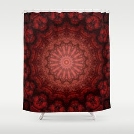Red Black Shower Curtains | Society6