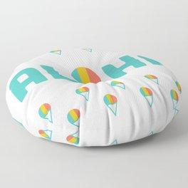 Aloha Shave Ice Floor Pillow