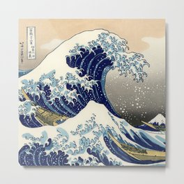 Katsushika Hokusai, The Great Wave off Kanagawa, 1831 Metal Print