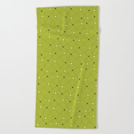 Chemistry Class Doodles - Lime Beach Towel