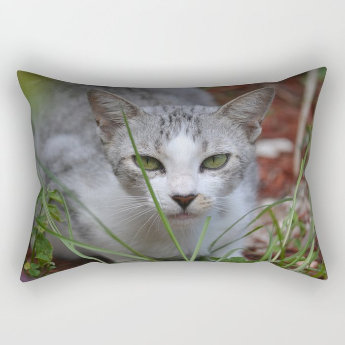 Emerald Eyes Rectangular Pillow