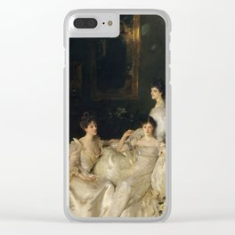 """John Singer Sargent """"The Wyndham Sisters: Lady Elcho, Mrs. Adeane, and Mrs. Tennant """" Clear iPhone Case"""