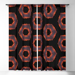 Fiery Red & Orange Circles Blackout Curtain