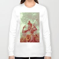 goddess Long Sleeve T-shirts featuring Goddess by Farkas B. Szabina