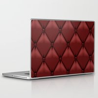 leather Laptop & iPad Skins featuring red leather by Cardinal Design