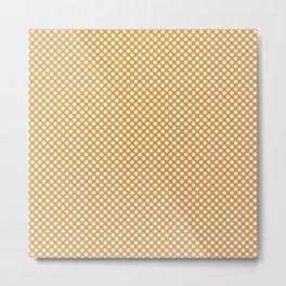 Butterscotch and White Polka Dots Metal Print