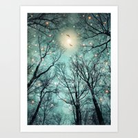 mint Art Prints featuring Nature Blazes Before Your Eyes (Mint Embers) by soaring anchor designs