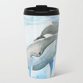 Ama - Whale mom and calf song Travel Mug