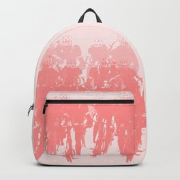 Cyclists in the sprint pink Backpack