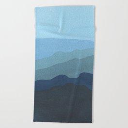 Landscape Blue Beach Towel